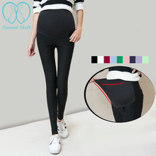 Skinny legging belly pencil pregnancy spring adjustable elastic waist clothes pregnant