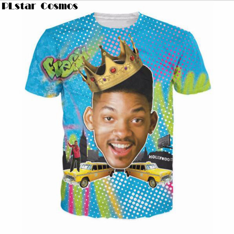 PLstar Cosmos 2017 New Fashion short sleeve Summer So Fresh Will Smith T-Shirt Sexy tee Fresh Prince of Bel Air 3D Print t shirt