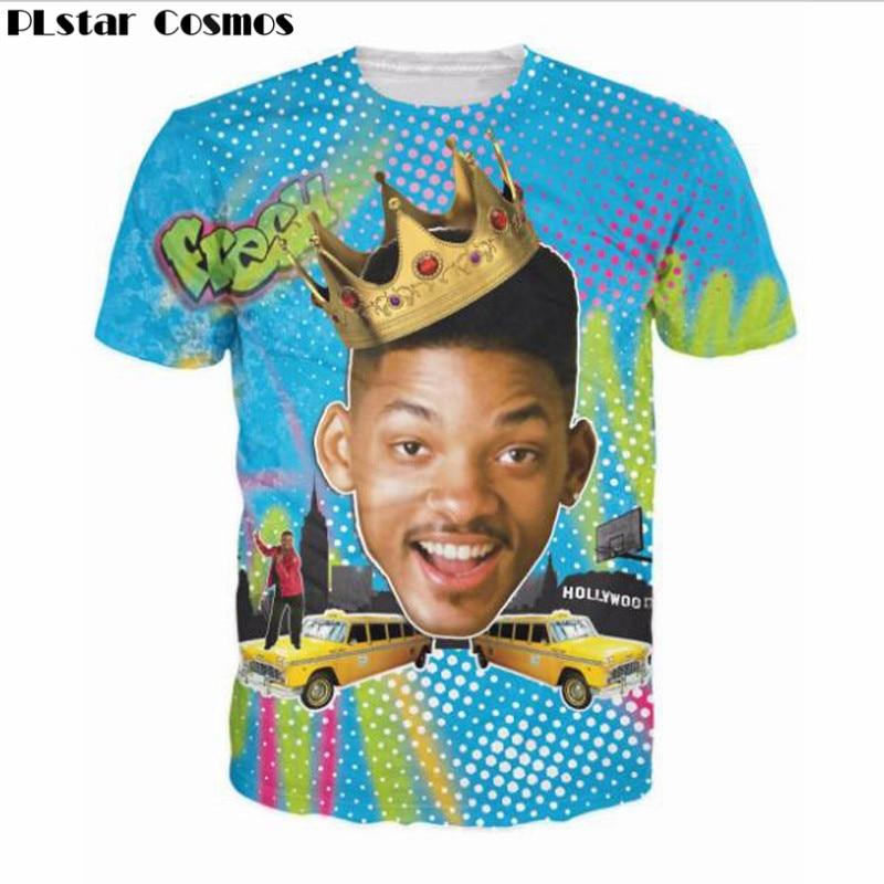 PLstar Cosmos 2018 New Fashion short sleeve Summer So Fresh Will Smith T-Shirt Sexy tee Fresh Prince of Bel Air 3D Print t shirt