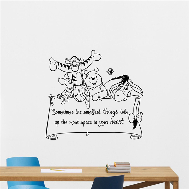 Winnie The Pooh Wall Art winnie the pooh wall decal lettering wall sticker print cool wall