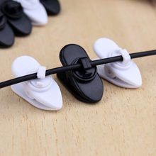 SIANCS 10pieces/lot Earphone Clips Clamp Headphone Line Bind Cellphone Cord Wire Cable Nip Holder Black Earphone Accessories(China)