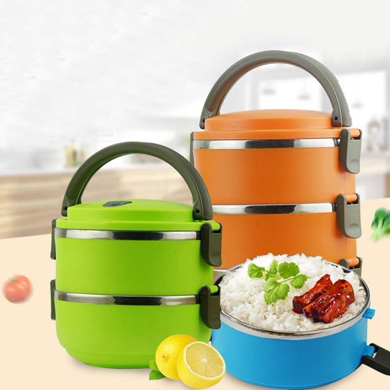 Container Store Lunch Box: Stainless Steel Insulated Bento Lunch Box Portable Outdoor