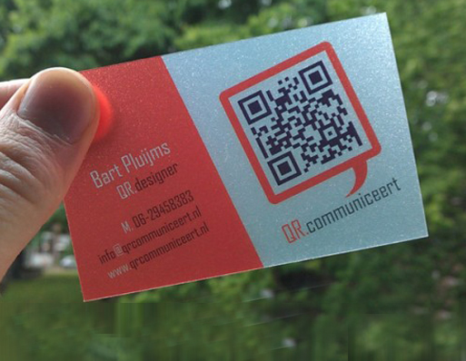High Quality personal QR code business card pvc transparent 200pcs 0 36mm Rounded corners single side