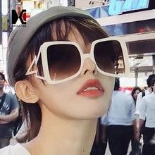 8e65eaf243 SHAUNA Oversize Square Sunglasses Women Brand Designer Ins Popular Metal  Arm Gradient Shades