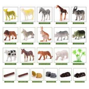 Image 4 - 44pcs Genuine Wild Jungle Zoo Farm Animal Series Jaguar Collectible Model Kids Toy Early Learning Cognitive Toys Gifts Random