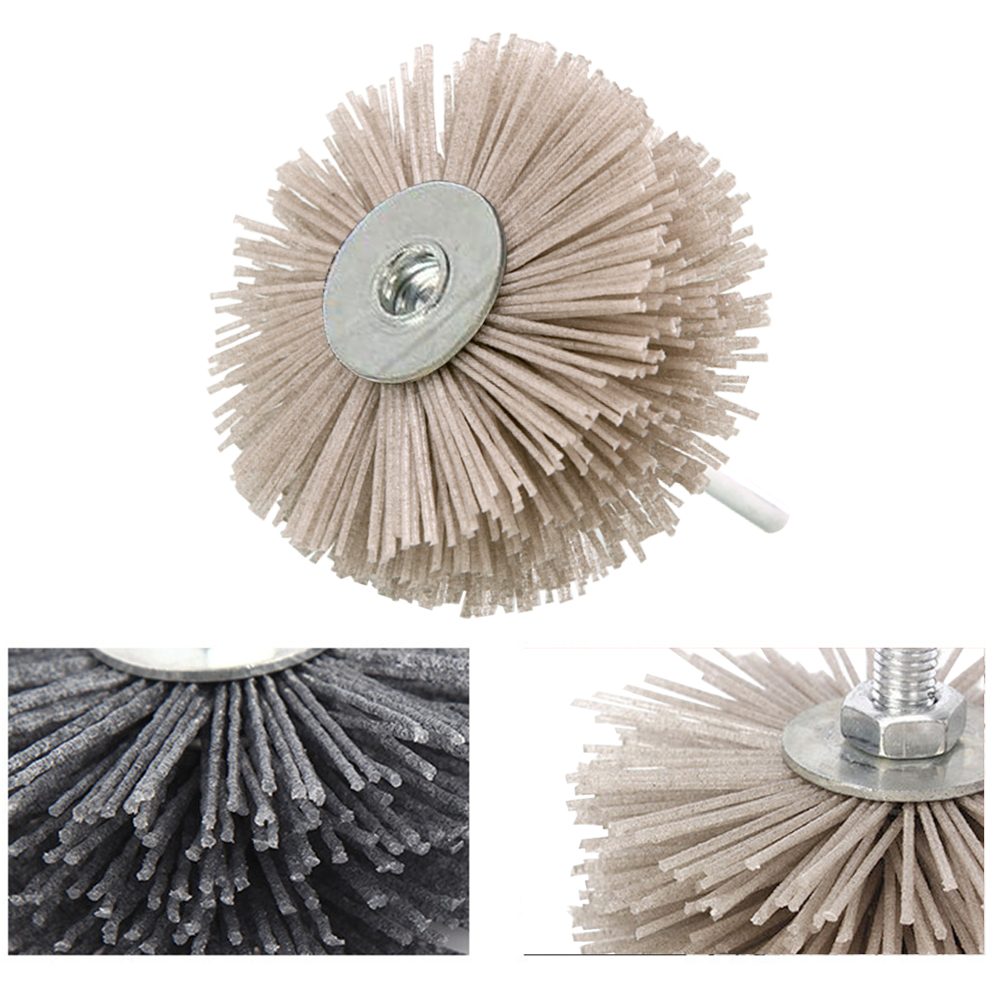 Nylon Material Wood Thuja Redwood Root Relief Polishing Wheel Grinding Head Wear-resistant Brush Grinding Head Abrasive