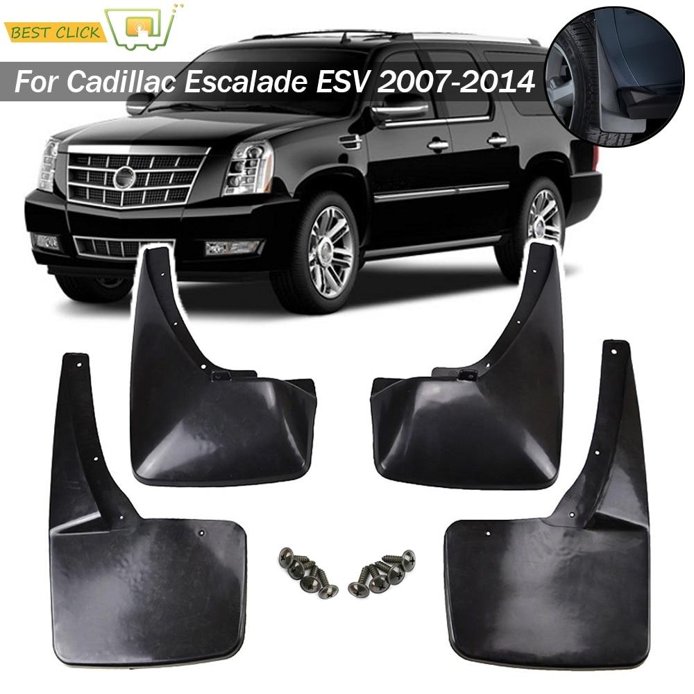 Car Mud Flaps For Cadillac Escalade ESV W O Dual Exhaust 2007 2014 Splash Guards Mudguards