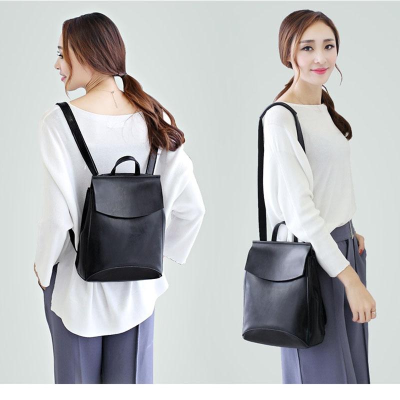 Купить с кэшбэком Fashion Design Backpack Female Leather Genuine Travel Bags School Bags For Teenage Girls Mochila Feminina Back Pack Lady'S Bag