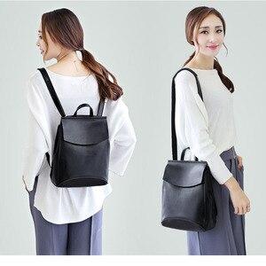 Image 5 - Fashion Design Rugzak Vrouwelijke Lederen Reistassen Schooltassen Voor Tienermeisjes Mochila Feminina Back Pack Dames Tas