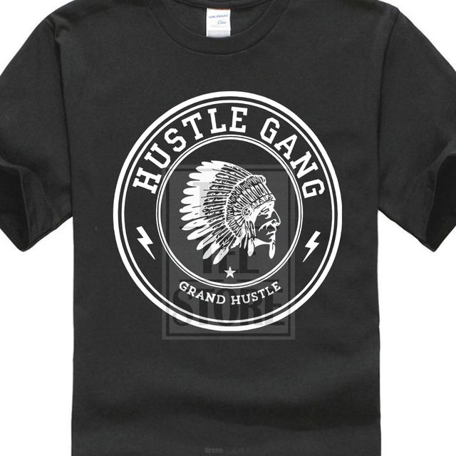 3386ce1a US $6.95 13% OFF|New Popular Hustle Gang Black Men'S T Shirt Size S 4Xl-in  T-Shirts from Men's Clothing on Aliexpress.com | Alibaba Group