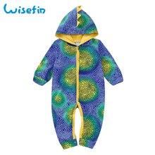 Baby Dinosaur Spike Long Sleeve Hooded Bodysuit Costume