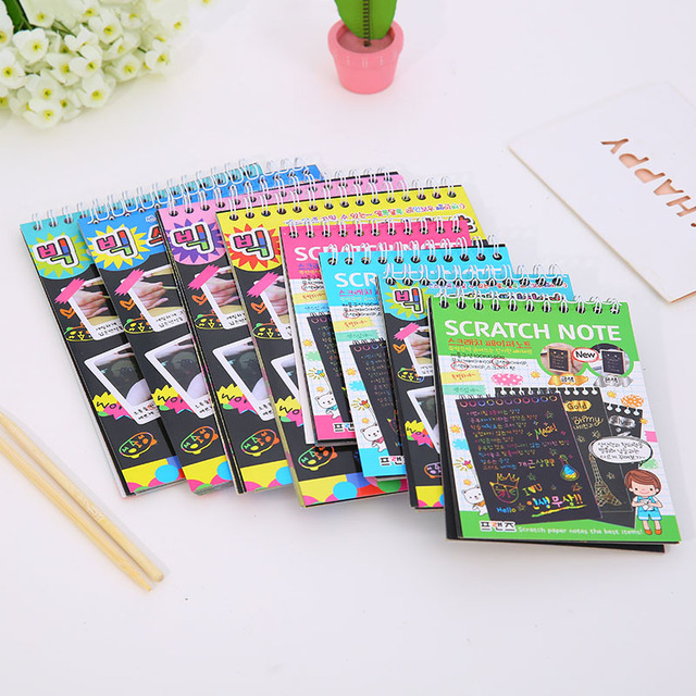 US $2 5 |Drawing Board Drawing Toys With Magic Drawing Stick Children  Colorful Write Painting Paper Scraping Book Education Toys-in Drawing Toys  from