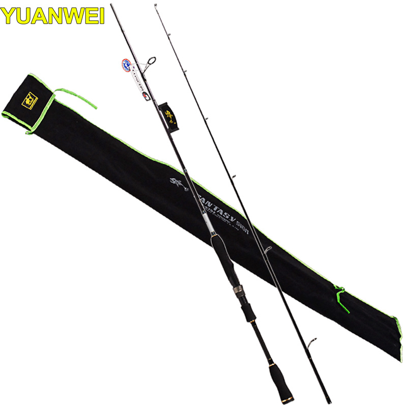 YUWEI 2Section Fishing Rods 2.1m 2.4m Carbon M/ML/MH Vara Pesca Japan FUJI Guide Ring Spinning Fishing Pole Canne a Peche tanger so239 mini uhf female jack to sma male plug right angle with 20cm 8 rg316 rf coaxial pigtail low loss cable high quality