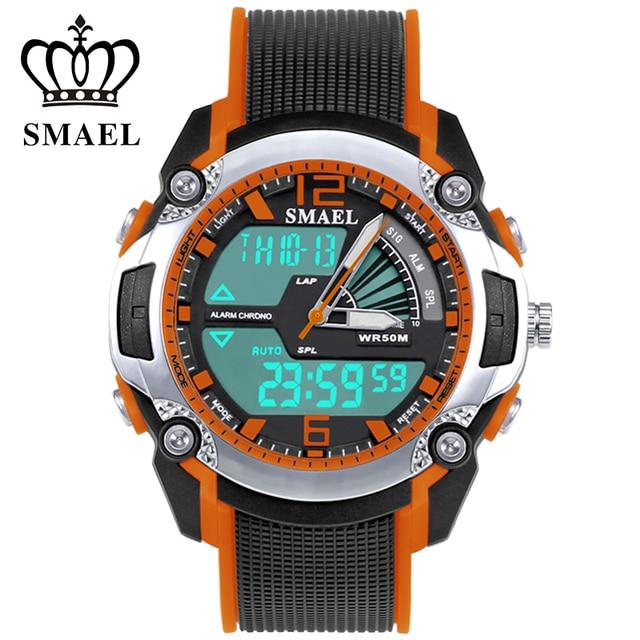 dca2c357010b Enfriar Reloj de Buceo 50 M Impermeable Reloj para Los Cabritos Dual Time  Reloj Niños Reloj