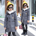 Зима 2017 новых детская одежда пальто шерстяные куртки длинные шерстяные пальто И Пиджаки детская Clothing 6-10 год