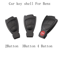 LARATH Replacement Shell Smart Remote Car Key Case 2/3/4 Buttons For Mercedes Benz M S C E CLS CLK Car Keys Cover NO logo
