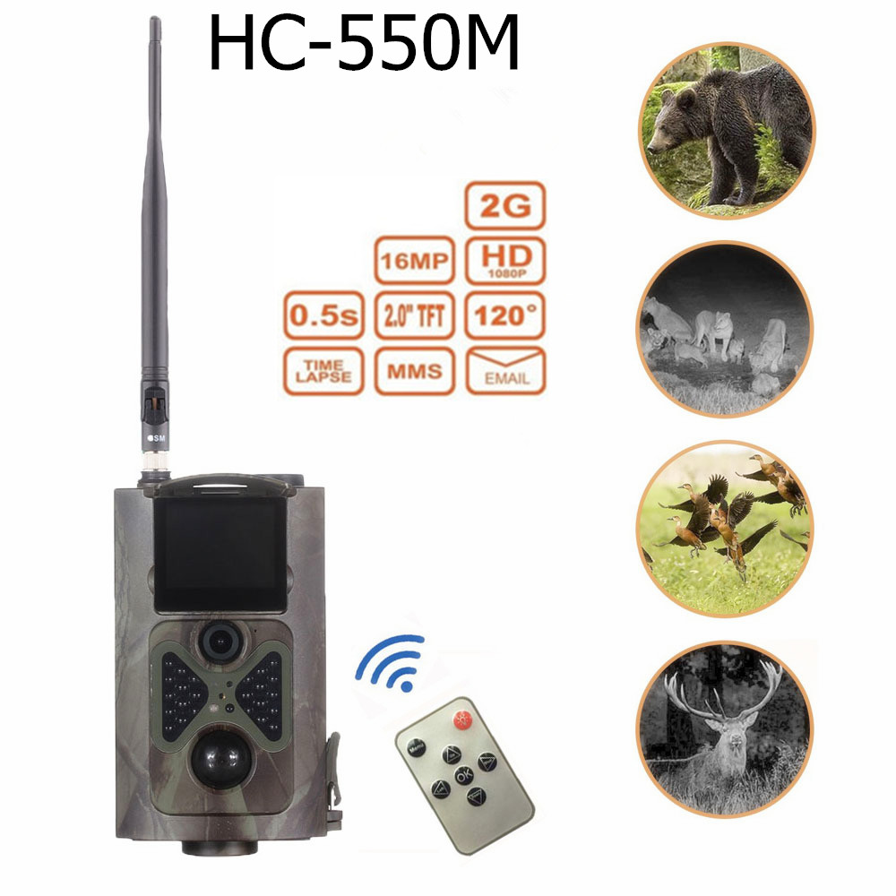 16MP Hunting Trail Camera with 120 degree Wide Angle sensing HC550M Wild Camera цена и фото