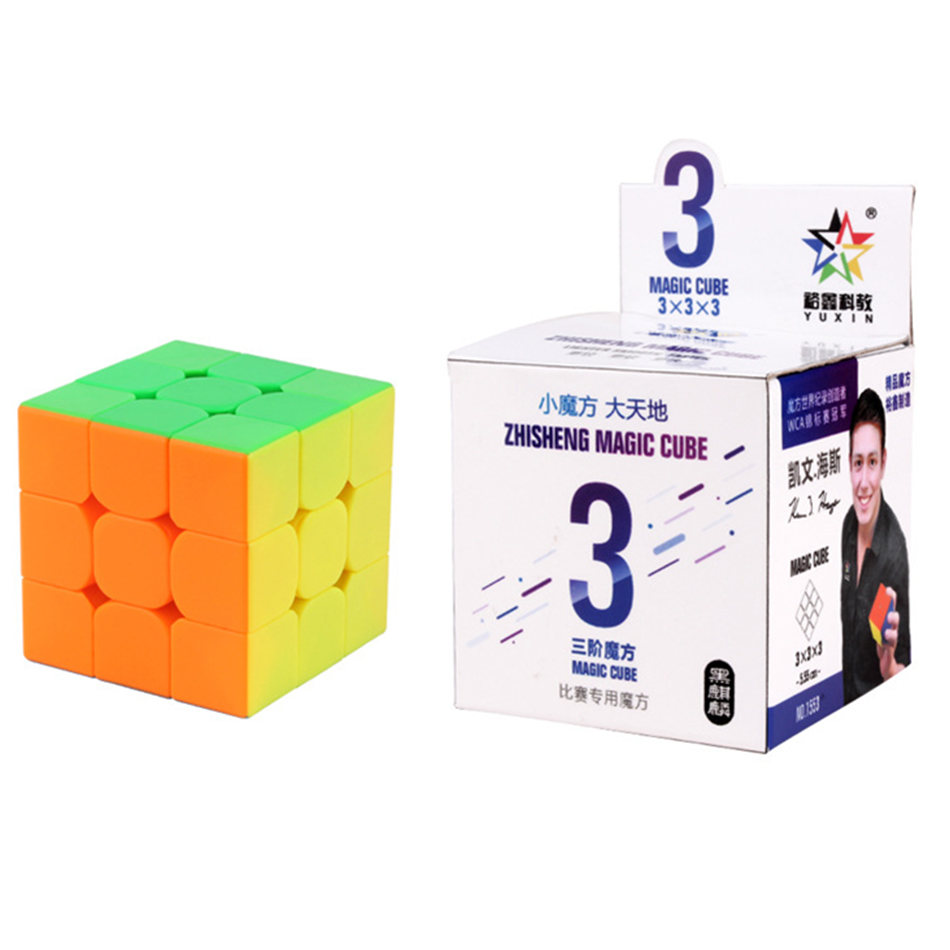 YuXin 3x3 Magic Cube Yuxin Magic Cube 3x3x3 Stickerless Magic Cube 3Layers Speed Cube Professional Puzzle Toys For Children