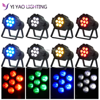 8pcs/lot mini LED Par Quad 7x12w Wash Par Light American DJ RGBW 4in1 DMX