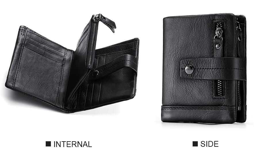 Topdudes.com - Genuine Leather Fashionable Portfolio Wallet