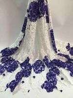 ZC42 2 Free Shipping Colourful Embroidery Water Soluble Lace Fabric Top Quality African Cotton Guipure Lace