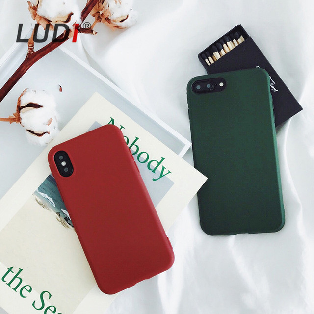 timeless design 6b9f7 20721 US $2.67 20% OFF|LUDI High Quality Brownish Dark Green Case for iPhone  X/XS/XR/MAX/8/7/7plus/6/6S/6PLUS/8PLUS CASE Soft pro TPU Cover Silicon -in  ...