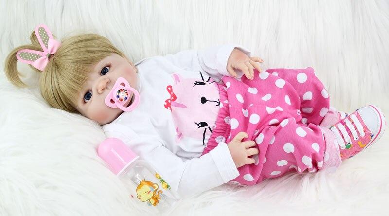 NPKCOLLECTION 55 cm Plein Corps En Silicone Reborn Fille Bébé Poupée Jouets Nouveau-Né Princesse Bébés Poupée Beau Cadeau D'anniversaire Enfant Présent