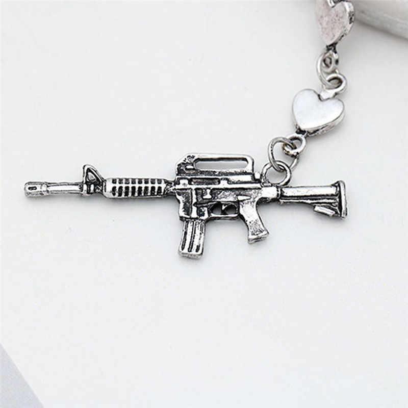 PUNK สไตล์ปืน Handcuff Drop ต่างหูบุคลิกภาพ Creative Dangle ต่างหู Hip Hop Street สไตล์ของขวัญเครื่องประดับสำหรับผู้หญิง