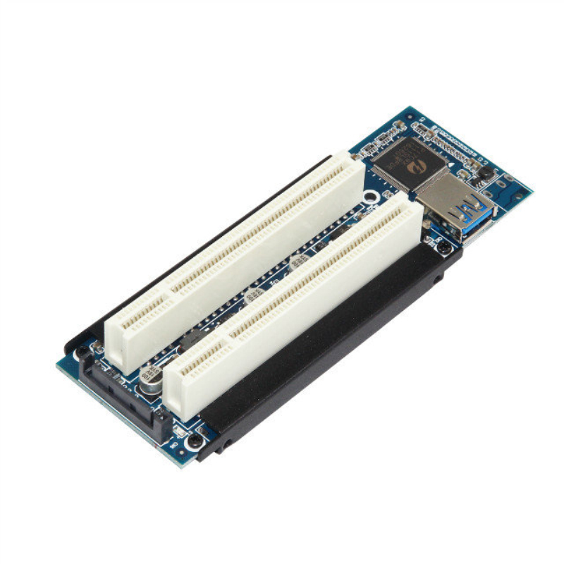 Centechia Brand PCI-E Express to Dual PCI Riser Extend Adapter Card With USB Cable With Extender Cable To Dual Slot PCI Adapter