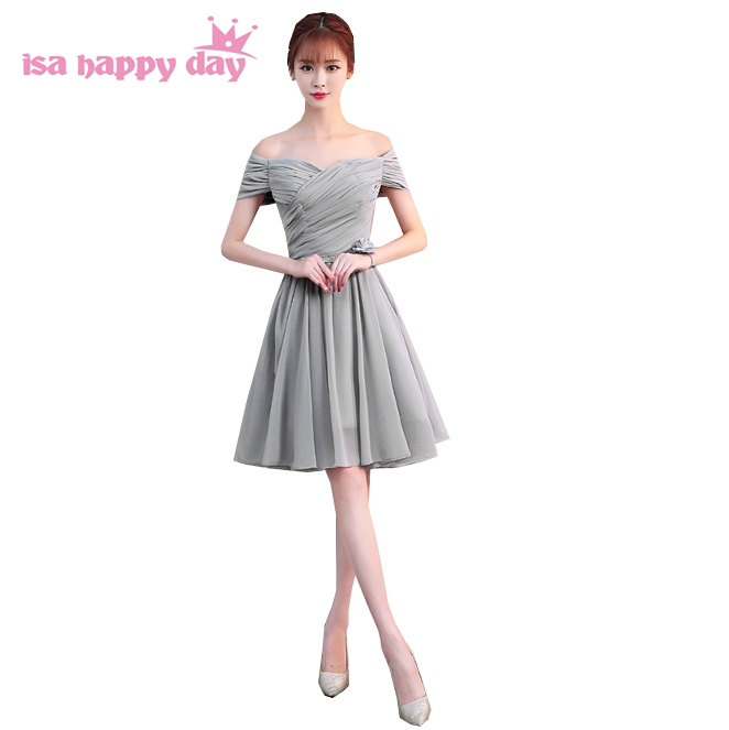 simple fancy grey special short dress teen chiffon formal ...