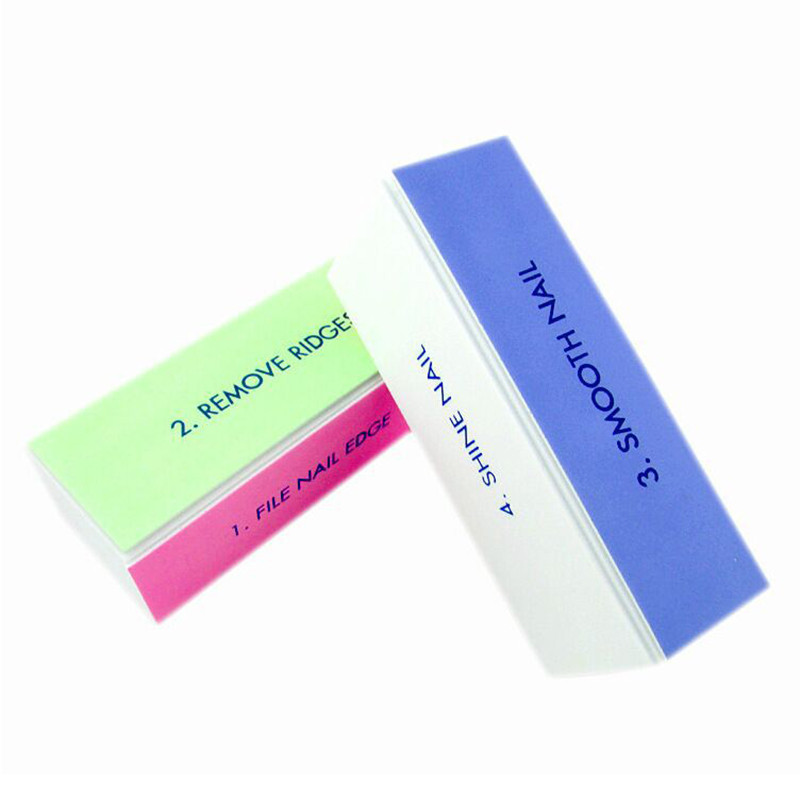 1Pc 4-Steps Nail Art File Sanding Block Buffer Colorful Nail File Manicure Nail Art Tool