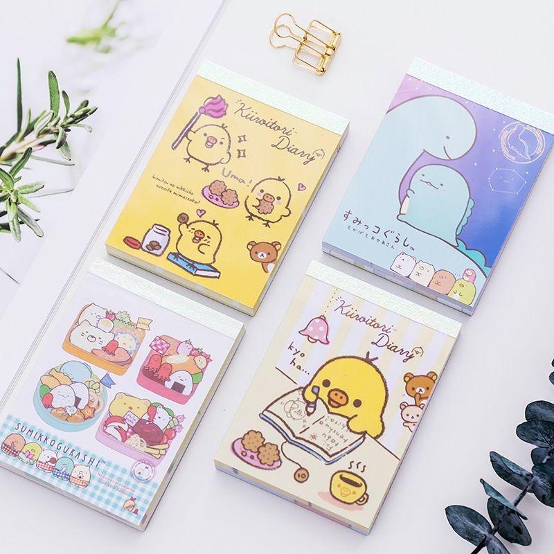 100 Sheets Creative Sumikko Gurashi Memo Pads Student Office Stationery Notepad Kids School Gift