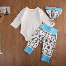Big Little Brother Family Matching Long Sleeve Romper Tops Arrow Pant Outfits