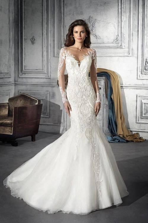 free shipping 2018 new special lace wedding dresses vestidos de novia long sleeves mermaid bridal gown