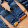 2017 Sulee Brand Summer New Italy Classic Blue Denim Pants Men Slim Fit Brand Trousers Male  High Quality Cotton Fashion Jean
