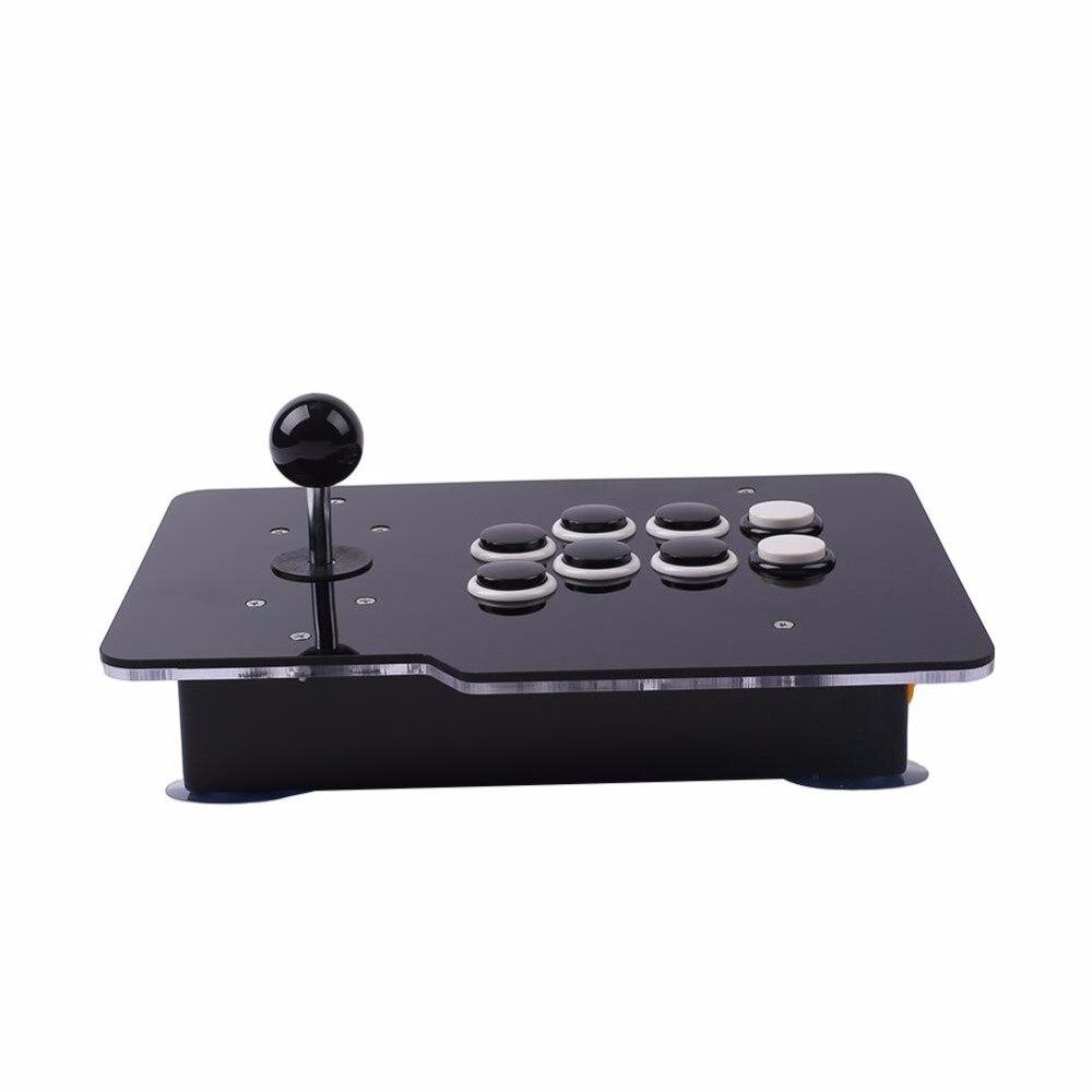 Manette d'arcade/Gamepads contrôleur USB 8 boutons directionnels sans retard culbuteur câblé pour PC Android offre spéciale populaire