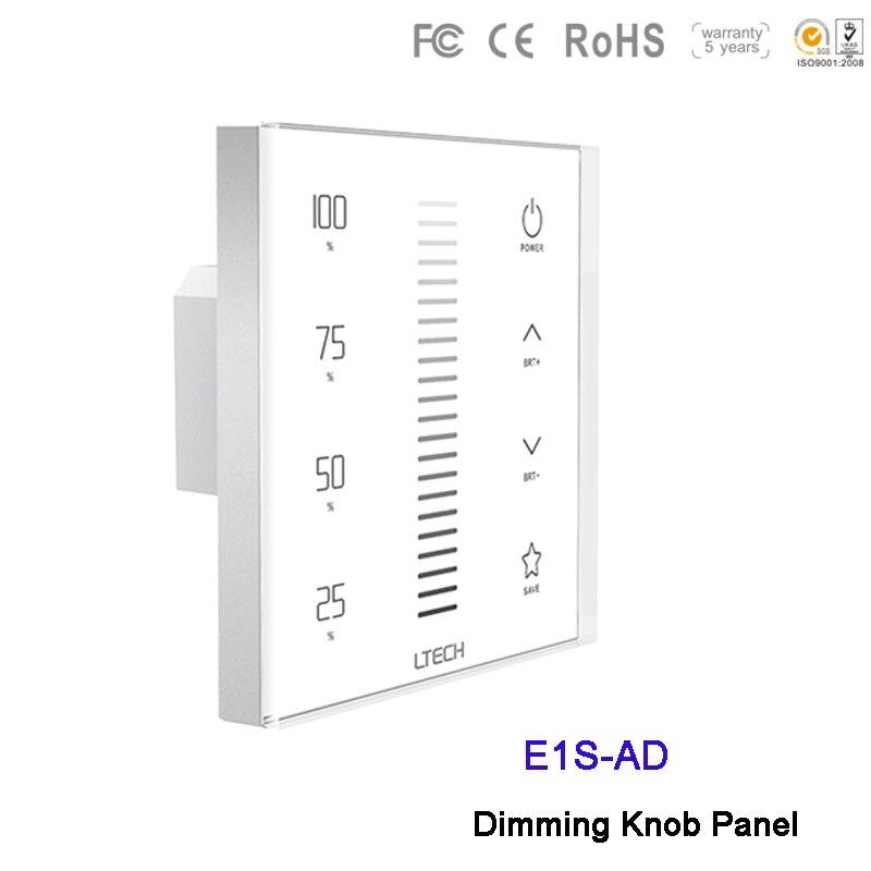 LTECH RF 2.4G variateur LED tactile panneau E1S-AD 3 en 1 commutateur 0-10 V 10 VPWM AC100 ~ 240 V LED de contrôle pour lampe à LED bande lumineuse
