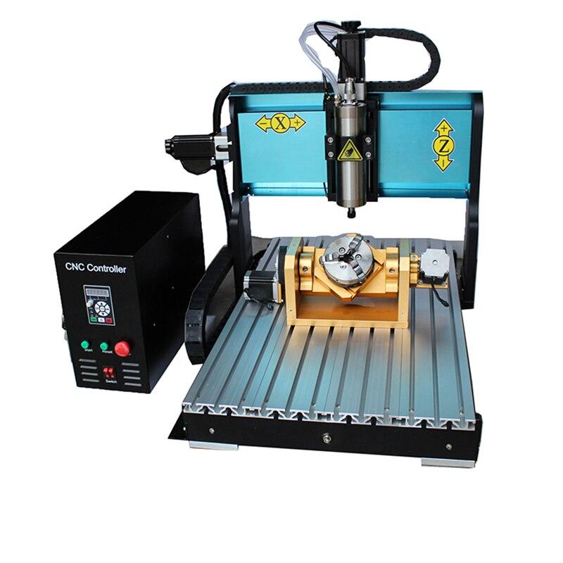 JFT meilleure qualité Port parallèle mini CNC Machine de gravure 6040 2200 W axe moteur 5 axes CNC routeur