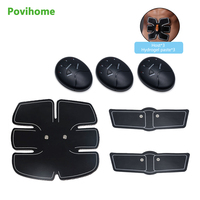 1set Slim Fit Wireless Abdominal Muscle Trainer Electric Pulse Treatment Massager Pad Gym Abs Slimmer Sports Arm stickers C1229