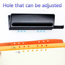 6 hole punch, adjustable hole, can punch 6 sheets, hole diameter 5.5mm,loose leaf paper 6 hole standard punch adjustable hole punch for handmade loose leaf and bullet journal inner page pink white 6 sheets capacity