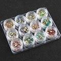 12 Caixas 3D Mulheres Opala DIY Cor Misturada Rodada Jóia Beads Nail Art Etiqueta de Vidro Cristal Rhinestone Decoração Manicure Ferramentas