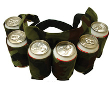 6 Beer Pack Camo Belt Carrier / Holder