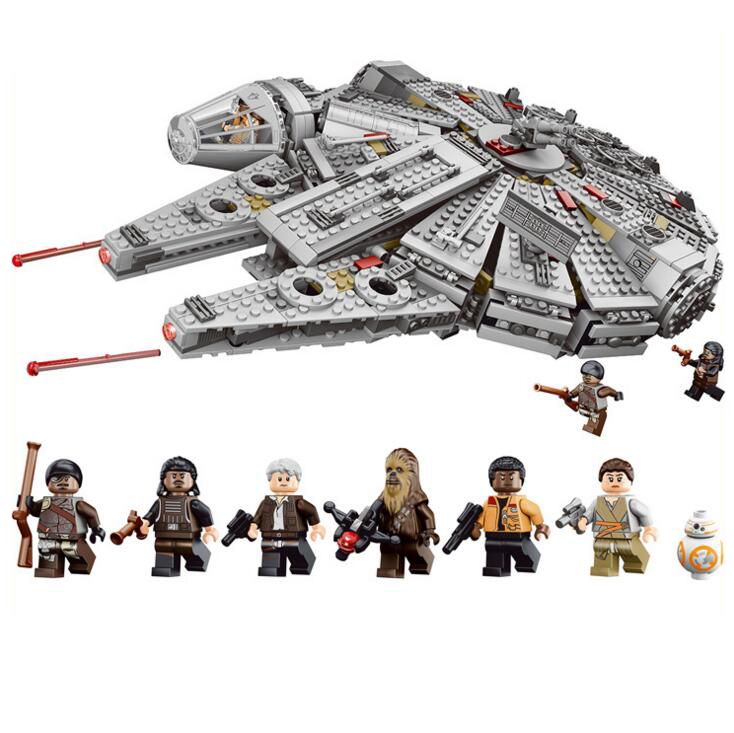 79211 1381Pcs OLEKU Millennium Falcon Star Wars Set Bricks Models & Building Blocks Toys for Children Starwars 10647 0500779211 1381Pcs OLEKU Millennium Falcon Star Wars Set Bricks Models & Building Blocks Toys for Children Starwars 10647 05007