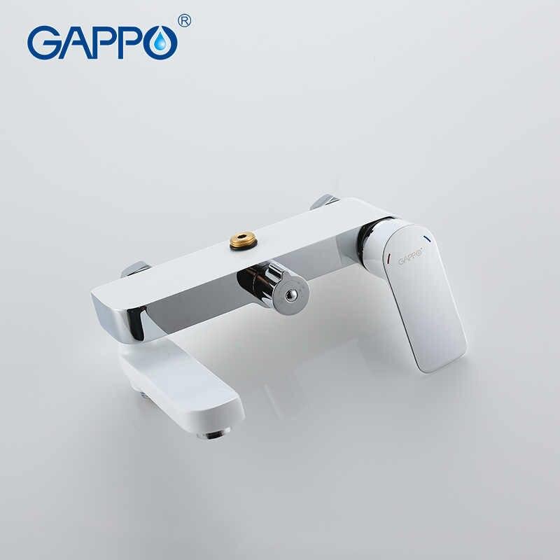 GAPPO 1 zestaw najwyższej jakości baterie do wanny z prysznicem zestaw łazienka mikser wanna z prysznicem krany opady deszczu ściana prysznica krany torneira