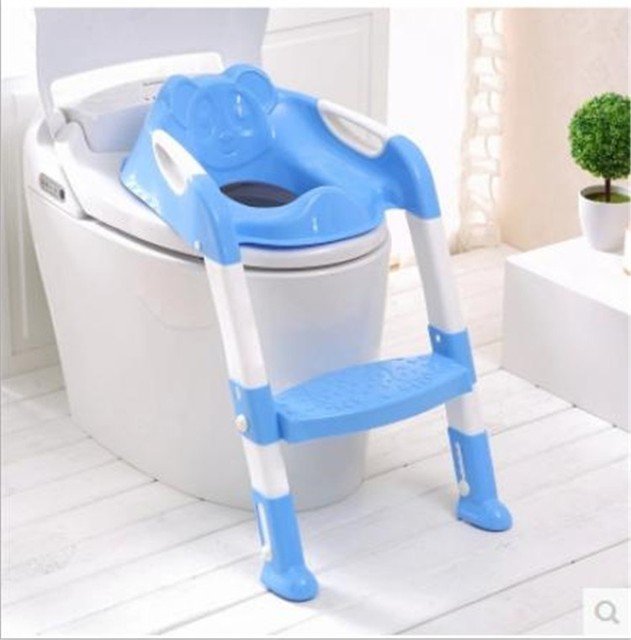 Baby Toilet Seat Ladder Children High Chair Folding Potty Infant