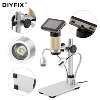 DIYFIX 10 300X USB Microscope HDMI Microscope Long Object Distance Digital for Mobile Phone BGA SMT Watch Repair Soldering Tool