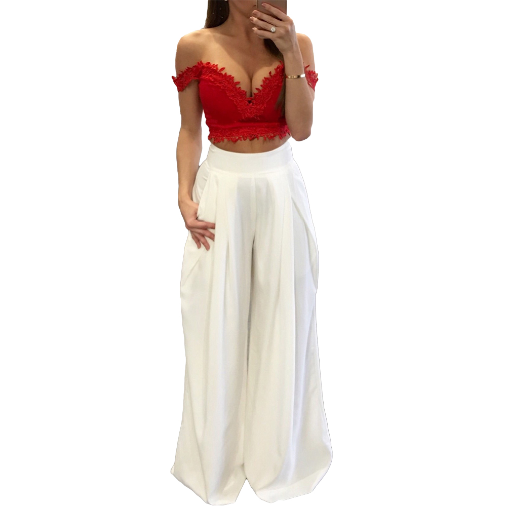 Image 4 - Women Harem Pants Solid Color High Waist Loose Wide Leg Pants Pockets Casual Palazzo Baggy Clubwear Trousers 2019 Pantalon Femme-in Pants & Capris from Women's Clothing