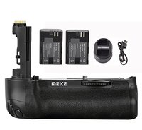 Meike MK 5D4 Multi Power Battery Grip for Canon 5D Mark IV + 2* LP E6 Battery +USB Dual Charger for LP E6