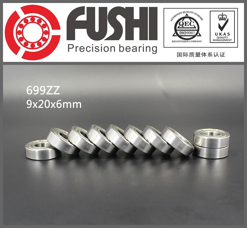 699ZZ Bearing ABEC-1 10PCS 9x20x6 mm Miniature 699Z Ball Bearings 619/9ZZ Balinera 699 ZZ 6903zz bearing abec 1 10pcs 17x30x7 mm thin section 6903 zz ball bearings 6903z 61903 z