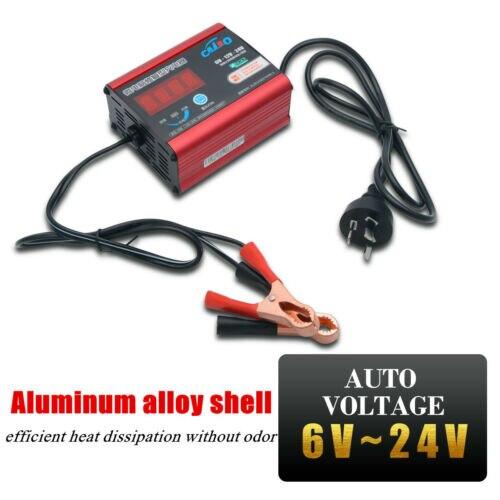 Chargeur de batterie de voiture Automatique Intelligente Réparation D'impulsion Type 6 V/12 V/24 V 6AH-200AH Plug UA